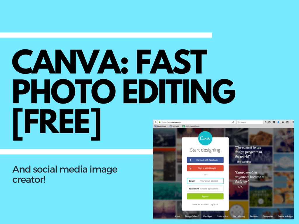 Canva: Fast and Easy Social Media Image Creation (free)