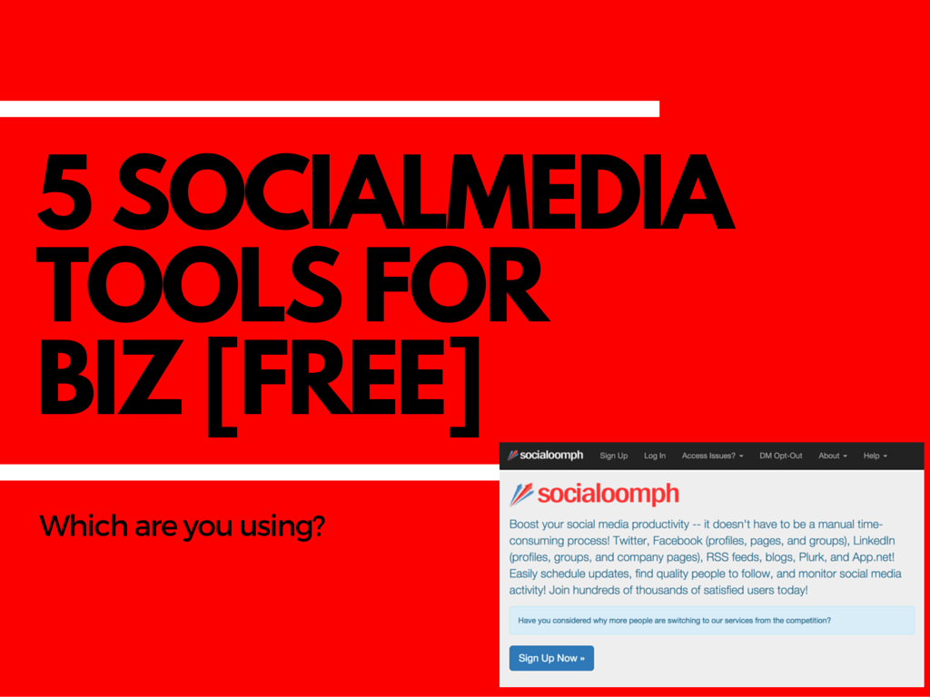 5 social media tools free for biz