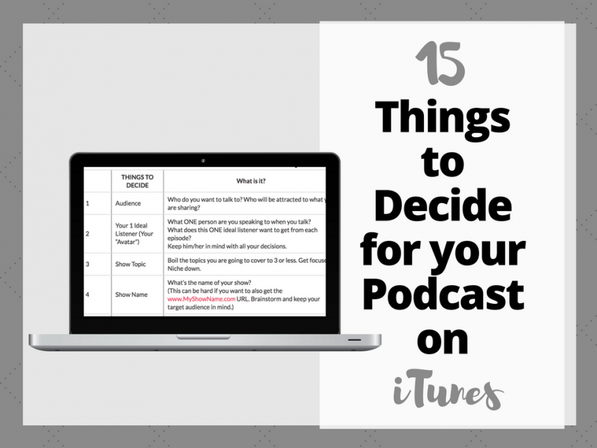 15 things to decide for your podcast on itunes copy writing tips