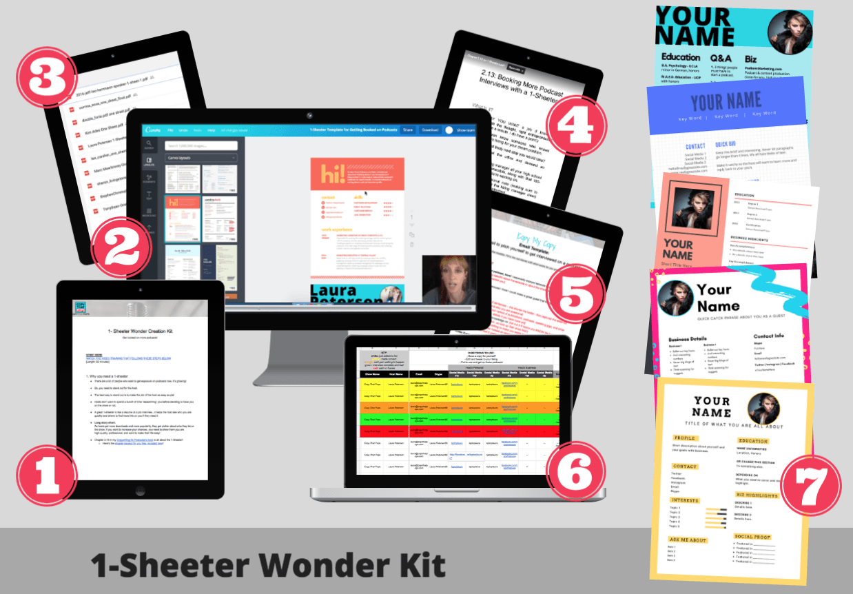 1 sheeter wonder kit to get booked on more podcast interviews