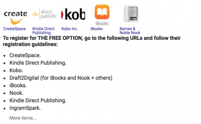 where to publish your book when you self publish