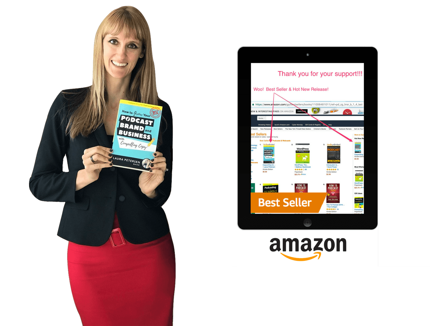 amazon bestseller laptop laura petersen best selling author photo