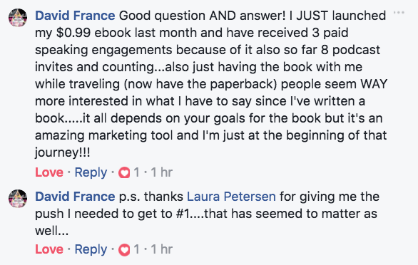 david france testimonial about book writing and best selling book launch success