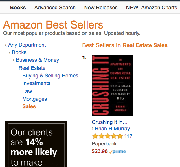An example of an Amazon #1 Best Selling Book