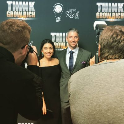 james whittaker on red carpet for think and grow rich premiere