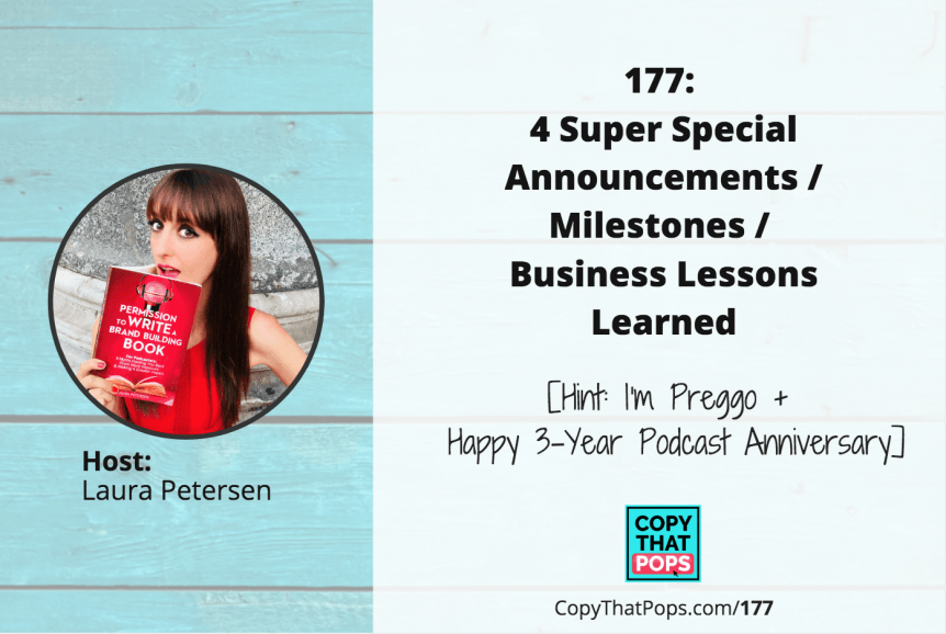 episode 177 of copy that pops podcast with laura petersen