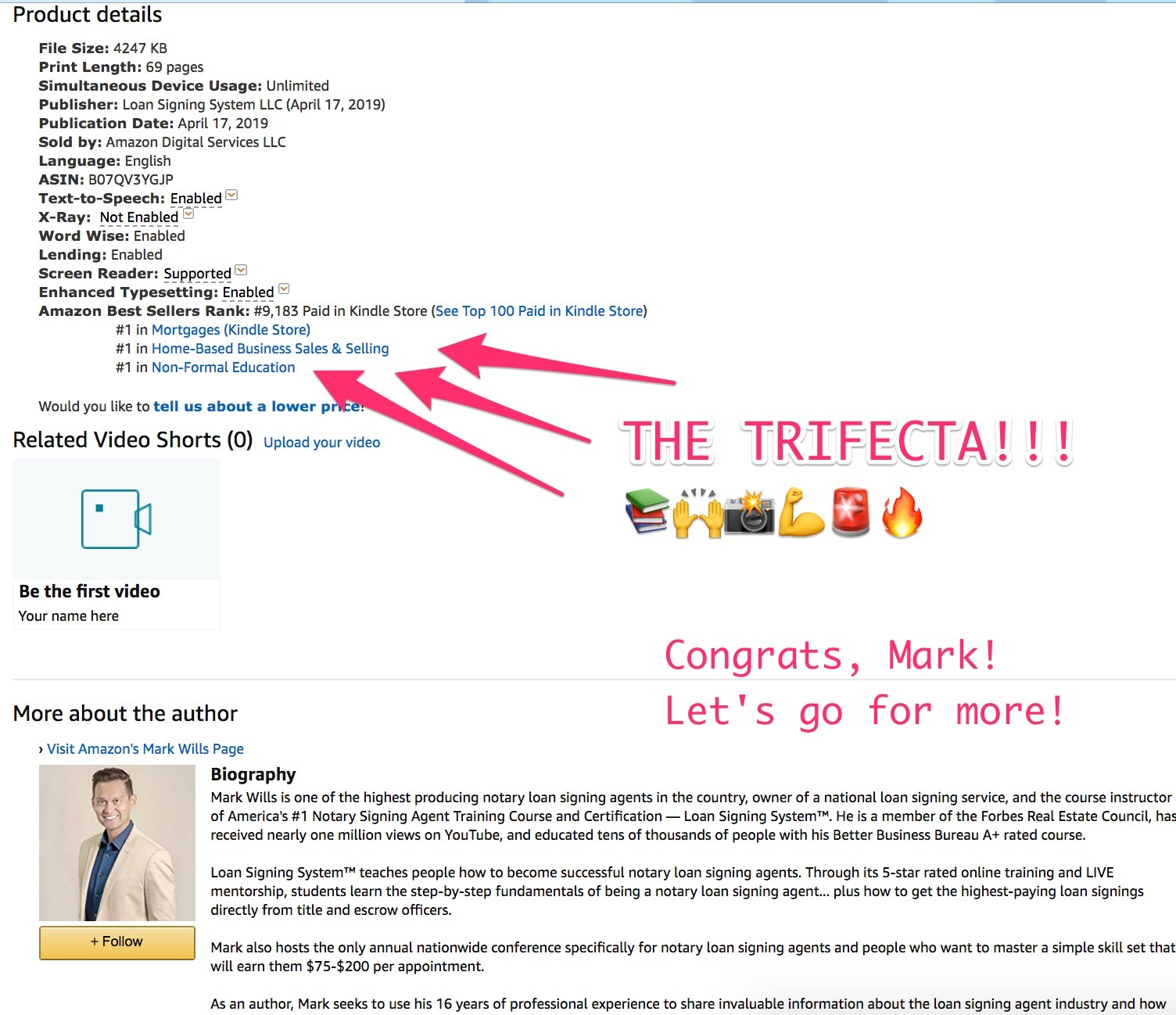 mark hit trifecta #1 bestseller - Copy That Pops